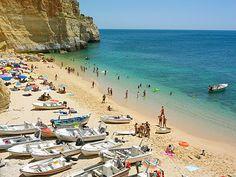 #Beach Praia de Benagil, Algarve, Portugal Lisbon City, Sea Activities, Popular Holiday Destinations, Portugal Holidays, Wine Tourism, Clean Beach, European Vacation, Spain And Portugal, Walking Tour