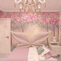 Дизайн красивой детской комнаты для девочки