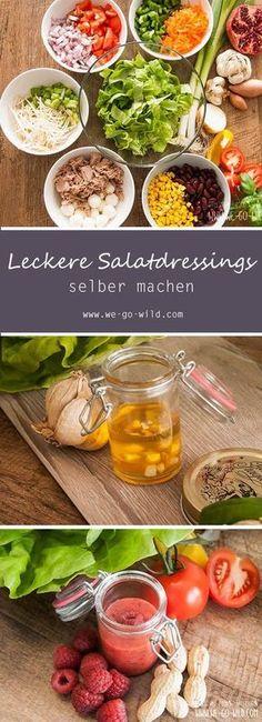Ihr sucht leckere Salatdressing Rezepte? Wir haben ein 6 erfrischend abwechslungsreiche Dressings für Salate.