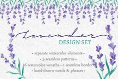 Watecolor Lavender Clip Art Set by Yashroom on @creativemarket