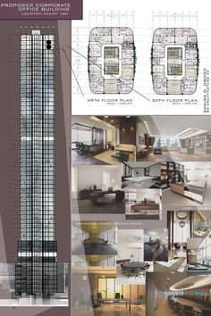 Design 8 / Proposed Corporate Office Building / High-rise Building / Architectural Layouts / Floor plans / Plates