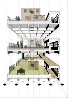 Perspective section architecture concept diagram, architecture presentation board, architecture collage, architecture graphics, Coupes Architecture, Detail Architecture, Architecture Concept Diagram, Architecture Presentation Board, Architecture Graphics, Architecture Drawings, Concept Architecture, Architectural Presentation, Architecture Diagrams