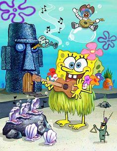 Image result for spongebob ukulele