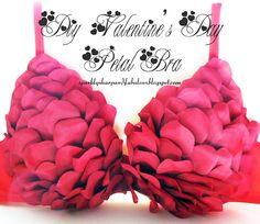 DIY Valentine's Day Petal Bra & Lingerie