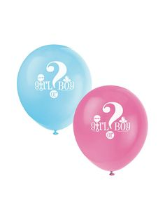 """Gender Reveal 12"""" Latex Balloons   Reduced Baby Shower"""