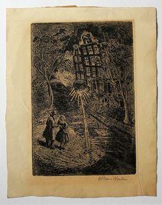 Willem Hendrik van Norden ( 1883 - 1978) Etchings on paper. Willem Hendrik van Norden ( 1883 - 1978) Rézkarc,papír Mihály Gyűjtemény