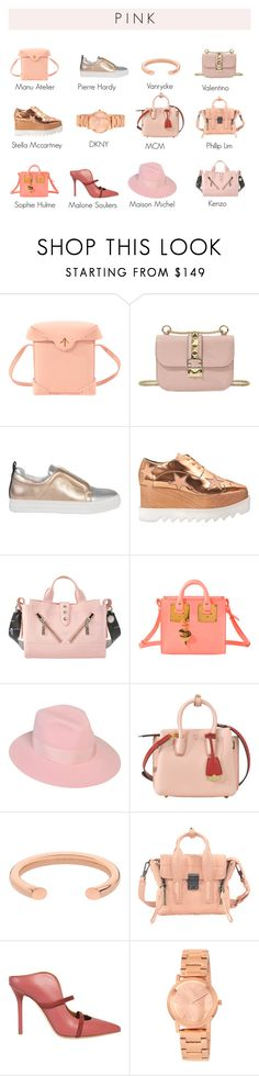 """""""P I N K"""" by monnierfreres ❤ liked on Polyvore featuring MANU Atelier, Valentino, Pierre Hardy, STELLA McCARTNEY, Kenzo, Sophie Hulme, Maison Michel, MCM, VANRYCKE and 3.1 Phillip Lim"""