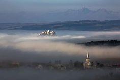 Spiš Castle in clouds