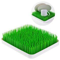 Balvi DISH DRAINER MY GARDEN Dish Rack COUNTERTOP Green Lawn GRASS + WHITE Tray