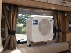 Mobile air conditioning inside our Bessacarr motorhome - really cools it down lovely! www.coolmycamper.com