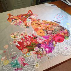 MarveLes Art Studios: frankie beginnings ~ the fox collage