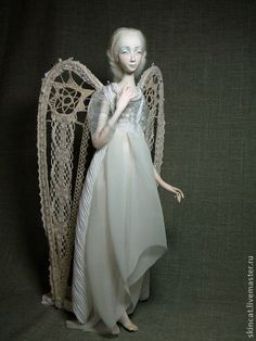 ♪♫ There are Angels among us ~ by Мингалёва Ксения . Angel Artwork, Handmade Angels, Ceramic Angels, Kobold, Angel Crafts, Paperclay, Angeles, Christmas Angels, Fabric Dolls