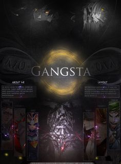 Gangsta MAL Profile layout by kivvi-san