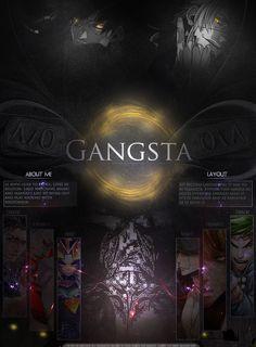 Gangsta MAL Profile layout by kivvi-san
