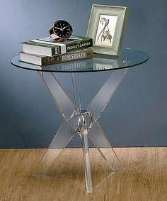 Look what I found on #zulily! Telex Glass Round End Table #zulilyfinds