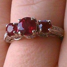 Ruby engagement ring. Vintage inspired.