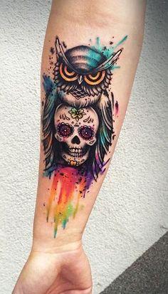 owl tattoo for babys design ideas