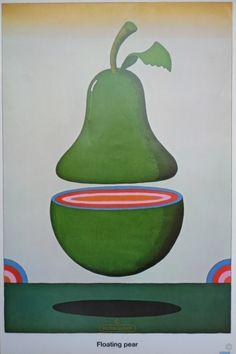 Floating Pear original poster by Milton Glaser