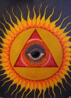 ☮ American Hippie Bohéme Boho Psychedelic Art ☮ All Seeing Eye Sun