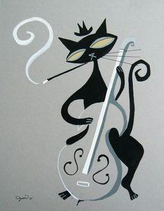 Čierna mačička sania obrázky