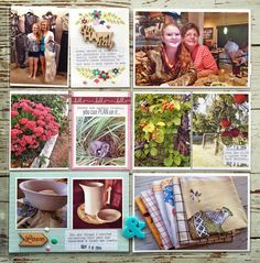 Mish Mash: Project Life 2014.....Week 38 using Gossamer Blue January Kits