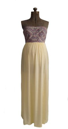 Kaydence Maxi Dress from Heritwine Maternity.  How cute would this dress be for a baby shower where the gender is a secret? Also really cute for a wedding.