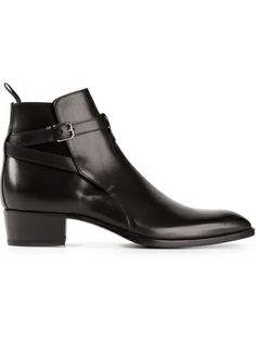 SAINT LAURENT Buckled Ankle Boots