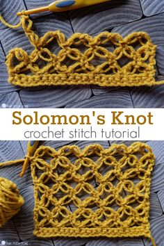 The Solomon's Knot - also known as the Lover's Knot - is a gorgeous, fun crochet stitch that stands out in a crowd. Let's learn how with this tutorial! # different crochet stitches Solomon's Knot (Lover's Knot) Crochet Stitch Tutorial Beau Crochet, Free Crochet, Knit Crochet, Crochet Motif, Crochet Crowd, Crochet Humor, Crochet Edgings, Crochet Mandala, Crochet Afghans