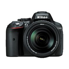 Nikon D5300 DSLR Camera with 18-140mm Lens (Black) ($797) ❤ liked on Polyvore featuring accessories