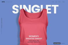 Women's Ghosted Singlet Template by PrePress Toolkit on @creativemarket