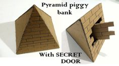 How to make A Pyramid piggy bank safe with secret door Cardboard Box Crafts, Paper Crafts, Diy Birthday Gifts For Sister, Escape Room Diy, Carton Diy, Bank Safe, Escape Room Puzzles, Puzzle Box, Homemade Crafts