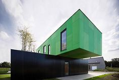 This container house in France was completed in 2010. CG Architects, France
