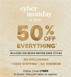 4aca03ffdd82 cyber monday is here 50% OFF EVERYTHING* Black Week, Catalog Layout, Start
