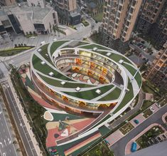 Kindergarten in Xieli Garden is part of garden Architecture Building - This is a UDGdesigned kindergarten located in Xieli Garden residential quarter, Huishan District, Wuxi This building is a threestory elliptical, Education Architecture, Garden Architecture, Amazing Architecture, Contemporary Architecture, Architecture Design, Kindergarten Projects, Kindergarten Design, Wuxi, View Photos