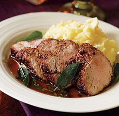 Pork Tenderloin with Sage & Marsala Sauce