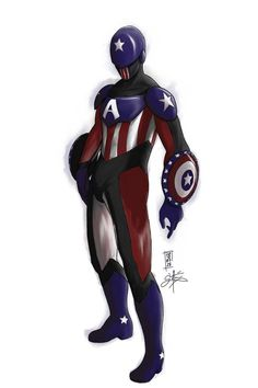 Captain America : Diving Suit by ShadedAreasArt on DeviantArt Hydra Captain America, Captain America Super Soldier, Captain America Toys, Captain America Cosplay, Superhero Characters, Cosplay Characters, Marvel Heroines, Marvel Comics, Diving Suit