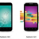 Karbonn has launched the A21 and A9+ Android 4.0 Ice Cream Sandwich smartphones in India for Rs 11,990 and Rs 9,990.     Read more: http://www.innogriti.com/karbonn-unveils-a9-and-a21-dual-sim-smartphones-with-android-4-0/