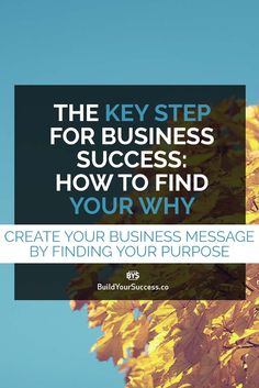 Knowing the reason you have to create your Business, the purpose that drives you beyond your passion is the key to Success. Learn how to find your Why