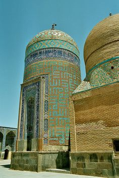 """The mausoleum of Sheikh Safi, the dome of which is called """"Allah-Allah"""" has an octagonal interior. The word Allah is all over the building in abstract forms and patterns. Persian Architecture, Vernacular Architecture, French Architecture, Beautiful Architecture, Iran Travel, Islamic Art, Places To Visit, Around The Worlds, Building"""