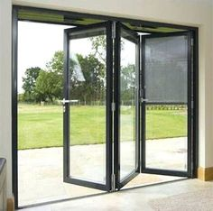 One of the most interesting principle behind accordion doors is that they are seldom made use of as actual entryways as well as exits. Most of the time, these folding barriers are made . Read Best Accordion Doors Ideas for Your House Glass Garage Door, Accordion Doors, Patio Windows, French Doors Patio, Door Cost, Grill Door Design, Garage Door Design, Folding Patio Doors, Aluminium Doors