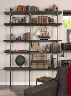 *Budget Friendly* DIY Industrial Pipe Shelving - DIY Candy