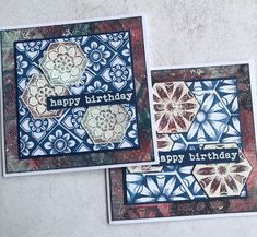 Birthday cards with PaperArtsy Chalk paints and Tracy Scott TS059 stamp set. Pattern Play Butterfly Cards, Flower Cards, Tracy Scott, Karten Diy, Honey Bee Stamps, Miss You Cards, Ranger Ink, Simon Says Stamp, Hero Arts