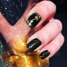 This mani is from a while back and I just found it in my camera roll. Did this Thor mani for a concert we went to (@officialpowerwolf btw - best live show EVER ). I used a @heheplate and @bornprettynail Stamping polish and the beer came in a