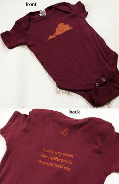 Virginia Tech Onesie for Lily and Katie's new little one!