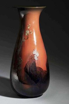 "Rookwood Rooster Floor Vase 1922 - 24"" Tall - $5000.00"