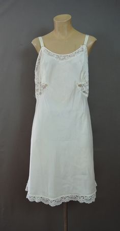 Vintage Slip with Side Lace, 40 bust Barbizon Embrace, As Is - Dandelion Vintage