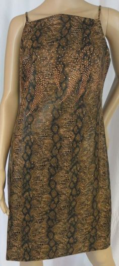 """CDC"" BROWN & GOLD PATTERNED DRESS - PLEASE SEE ALL PICTURES #CDC"
