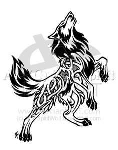 Nordic Flame Wolf Tattoo - I like the idea of adding another wolf for every member of my family...like a pack