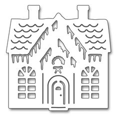 Add sweet design to your Christmas papercrafting projects with the Gingerbread Cottage Creative Die by Penny Black. The package includes one thin metal die that Christmas Stencils, Christmas Paper Crafts, Christmas Themes, Christmas Decorations, Penny Black, Black Christmas, Christmas Diy, Housewarming Card, Card Making Supplies