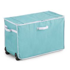 Storage Trunk w Wheels Extendable Handle Rolling Garage Storage